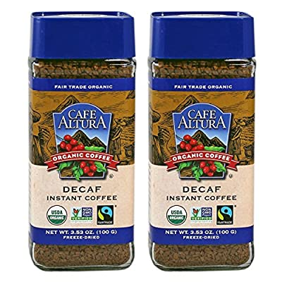 Cafe Altura Organic Fair Trade Decaf Instant Coffee, 3.53 oz (Pack Of 2) by Cafe Altura Organic Coffee