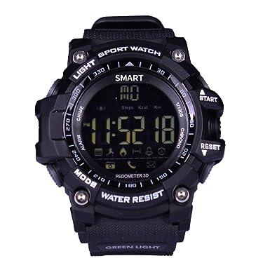 Lemfo Mens Militar Reloj Inteligente, EX16 Bluetooth 4.0 LED Reloj Digital 5 ATM & IP67