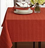 Textured Fabric Tablecloth, Bison, 60' x 120' Rectangular