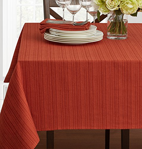 "Textured Fabric Tablecloth, Bison, 60"" x 120"" Rectangular"