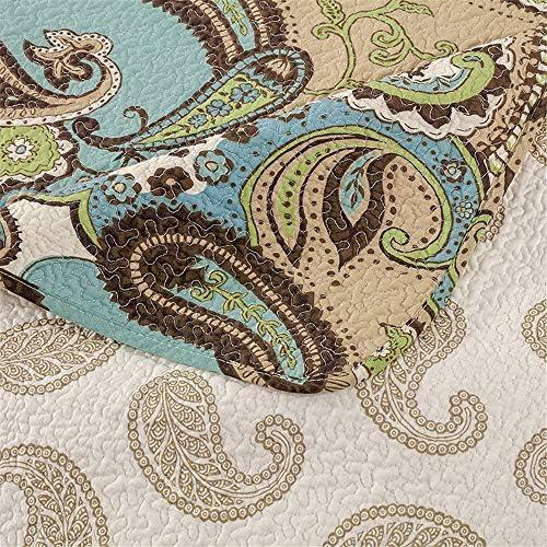 3PCS coton Paisley matelassée Couvre-lit Couettes Couvertures couvre-lits Set