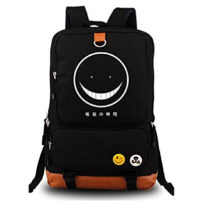 Gumstyle Anime Assassination Classroom Luminous Large Capacity School Bag Cosplay Backpack Black and Blue | Kids' Backpacks
