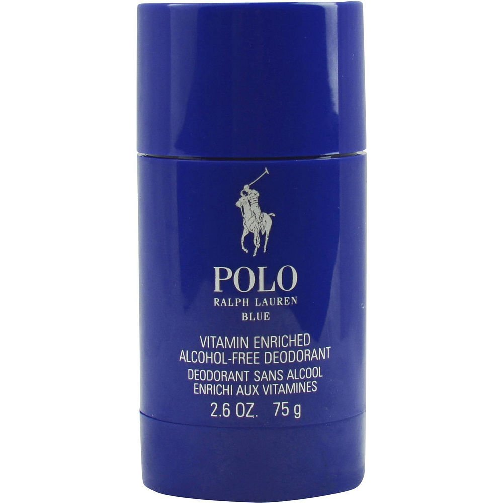 POLO BLUE by Ralph Lauren DEODORANT STICK ALCOHOL FREE 2.6 OZ for MEN ---(Package Of 6)