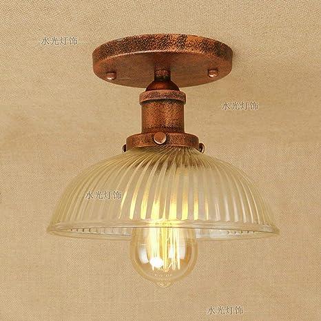 lámpara de retro empotrada de techo semi Lámpara industrial TOkZiPXu