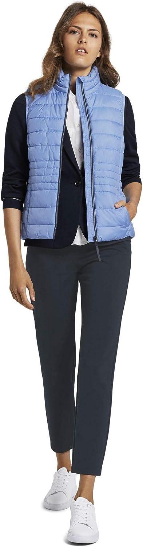 TOM TAILOR Damen Jacken Leichte Steppweste mit Stehkragen