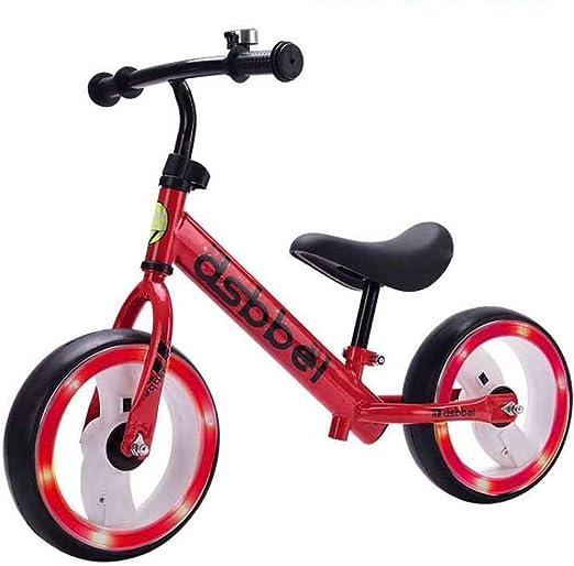Haaemy Bicicleta de Equilibrio, 2 3 4 5 6 años Bicicleta de niño niña sin Pedales Aleación de Aluminio, Asiento Ajustable Neumático Luminoso Balance Bike Infantil: Amazon.es: Hogar