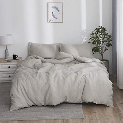 Stone Washed Linen Duvet Cover Set