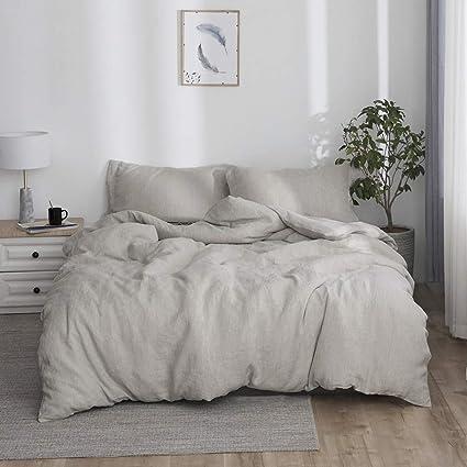 Stone Washed Linen Duvet Cover Set