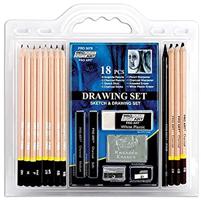 Pro Art 18-Piece Sketch/Draw Pencil Set by PRO ART