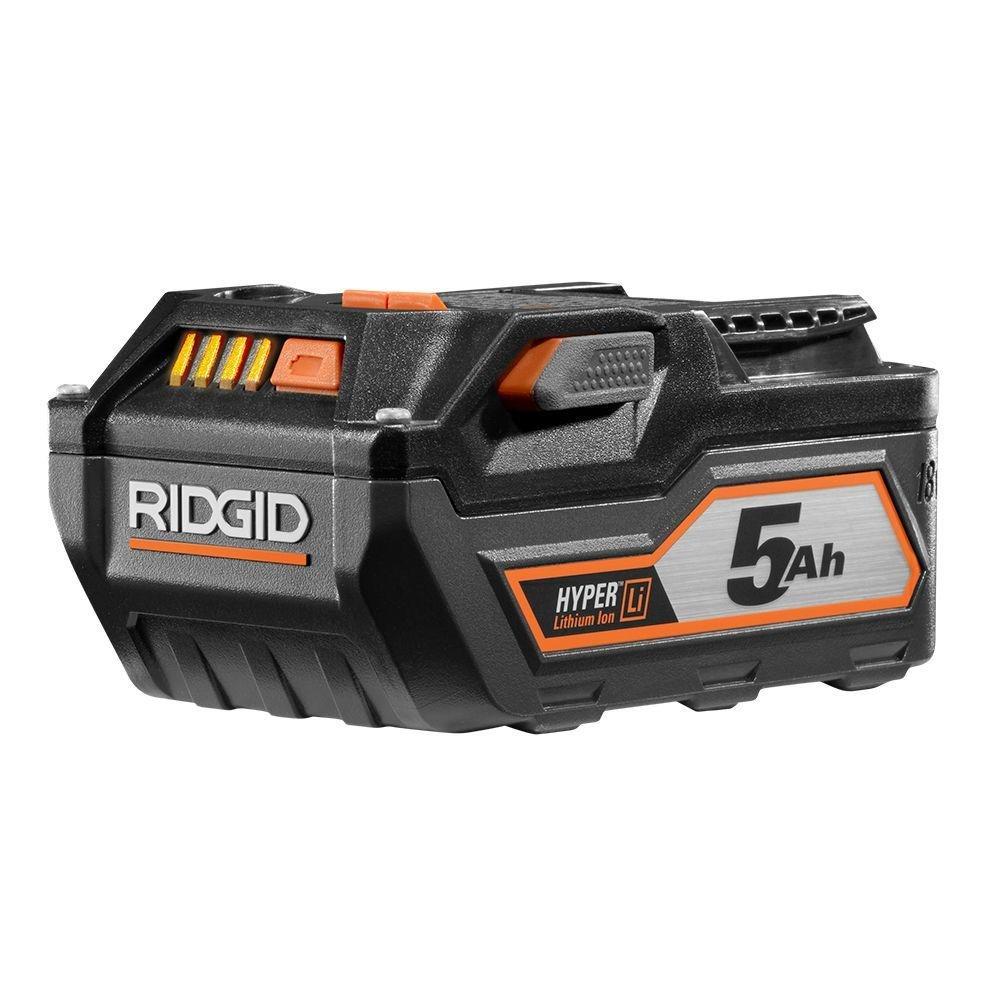 RIDGID TOOL COMPANY GIDDS2-3554604 18V 5.0Ah High Capacity Hyper Lithium-Ion Battery
