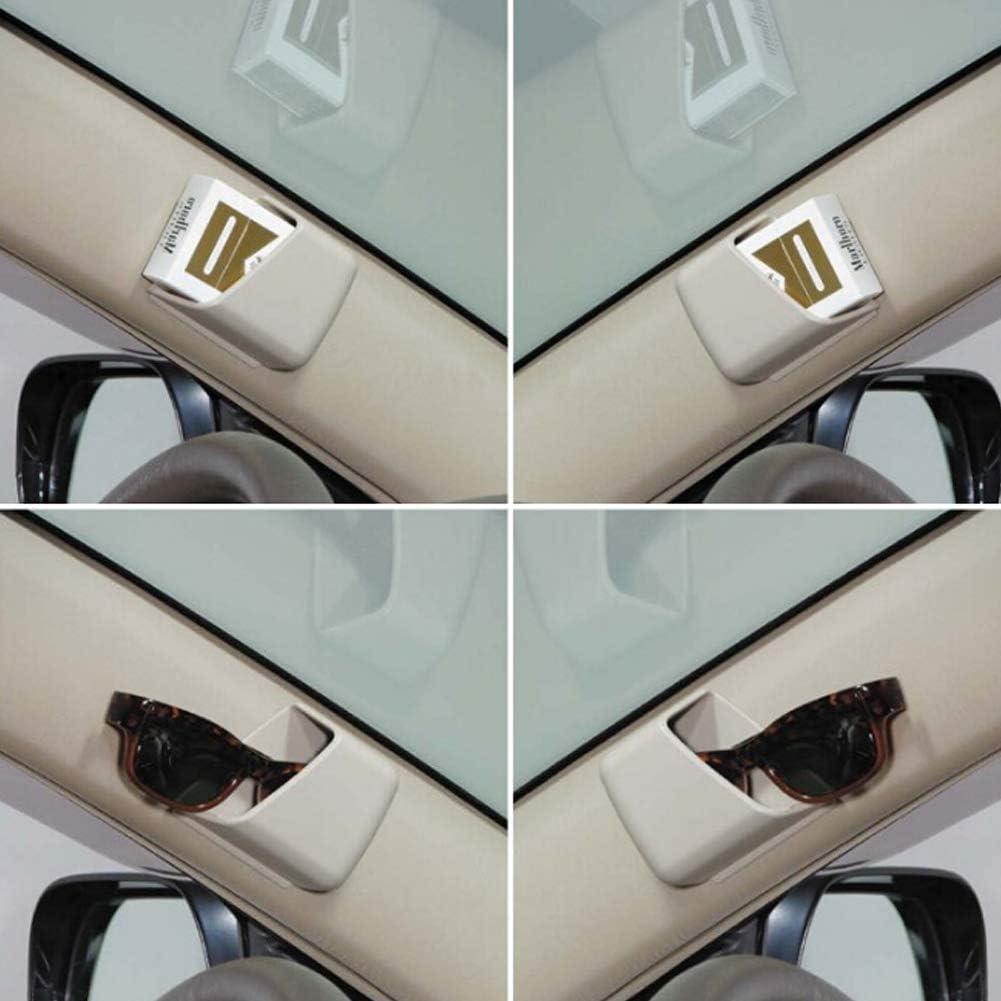 RENNICOCO 2Pcs Universal Glasses Holders for Car Visor Phone Pen Organizer Storage Bag Box