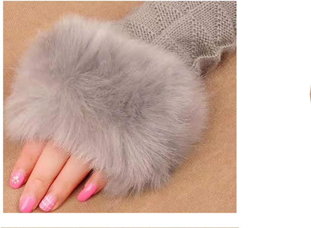 Gloves female winter student cute lady fingerless Korean version of the winter thick warm cycling arm set wool half finger