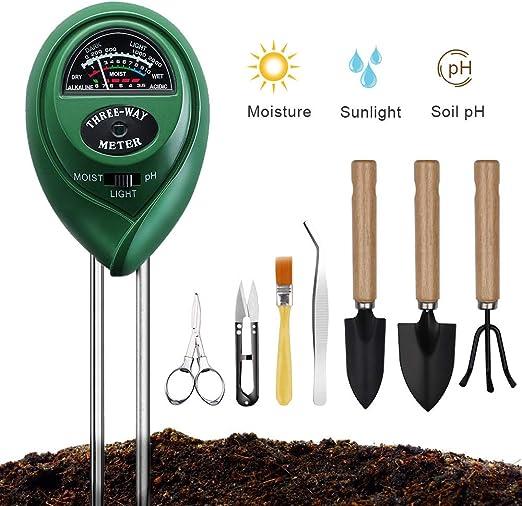 Amazon.com: G Taste - Medidor de pH del suelo con 8 ...