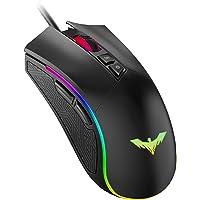 havit Ratón Gaming 7 Botones Mouse Gaming programables Iluminación RGB [800-1600-2400-4800] para Windows7/8/10/Xp/Vista…