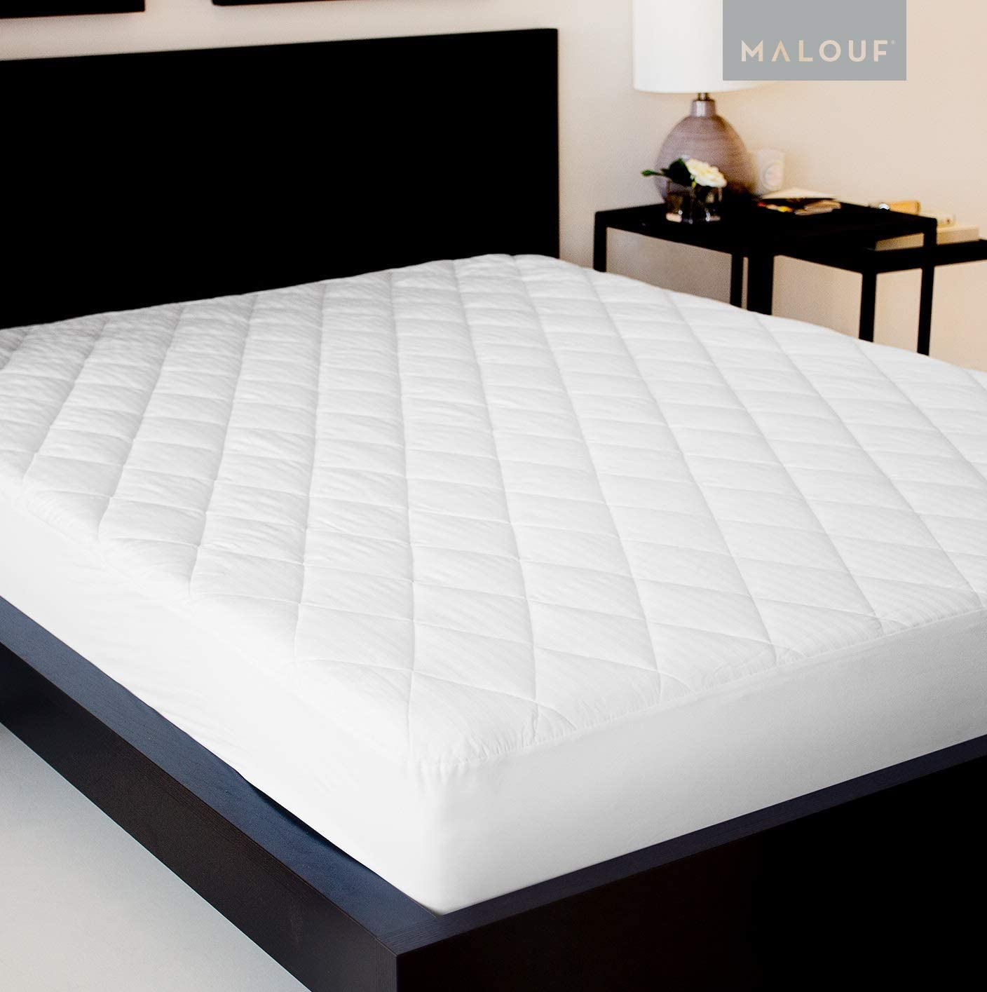 Sleep Tite Quilted Mattress Pad With Soft Down Alternative Fill Hypoallergenic Twin Home Kitchen