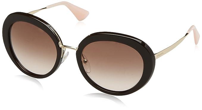 Prada Damen 0PR16QS DHO0A6 55 Sonnenbrille, Braun (Brown/Brown)