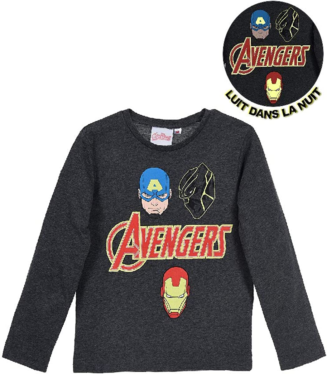 Gar/çon T-Shirt /à Manches Longues Marvel Avengers
