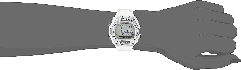 Timex Women's Ironman 30-Lap Digital Quartz Mid-Size Watch, White/Silver-Tone - TW5K89400: Timex: Watches