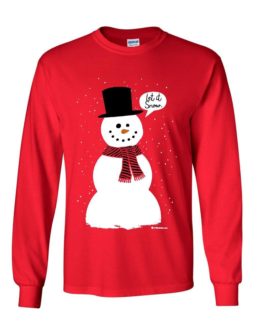 Let It Snow Tshirt Funny Snowman Christmas Xmas Tee