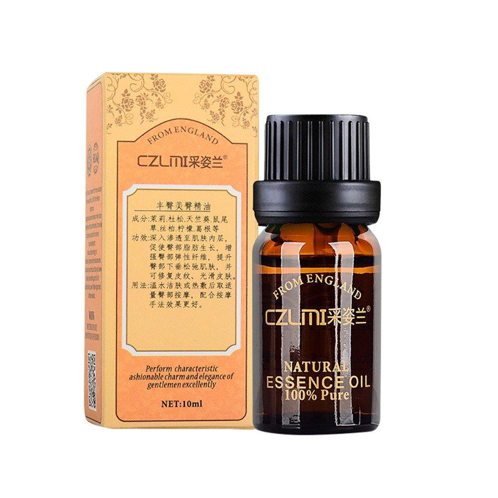 Jinjin Women Hip Lift Buttock Massage Essential Oil Buttocks Up Butt Enlargement,1.76Ounce (browm)