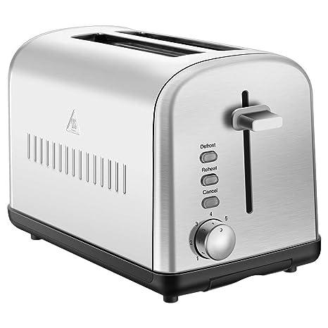 Amazon.com: tostador 4 rebanadas Extra ancha ranura grande ...