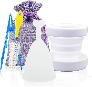 1 vaso menstrual SPEQUIX para mujer con taza esterilizadora y ...