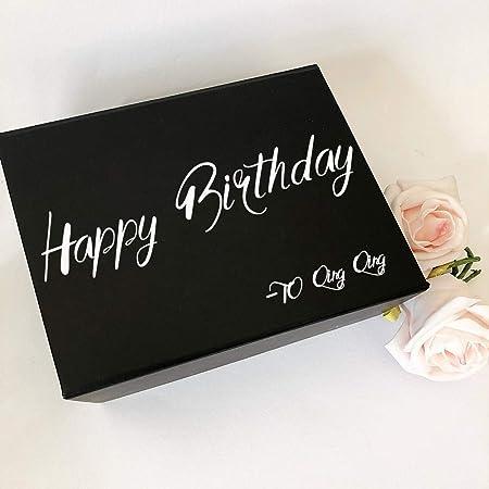 Ajcwhml Etiqueta de Feliz cumpleaños Personalizada Nombre ...