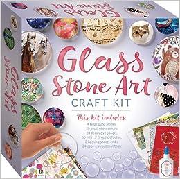 Glass Stone Art Craft Kit Tuck Box 9781488909931 Amazon Com Books