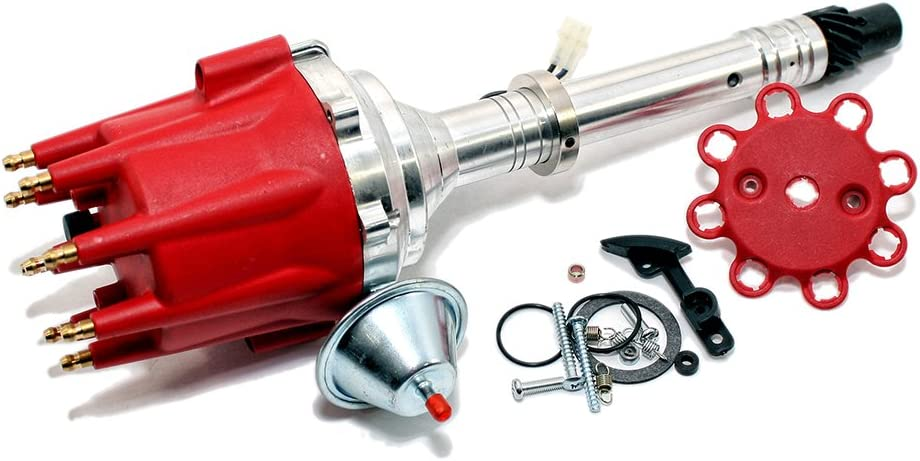 Assault Racing Products 1535011 Chevy V8 Red Pro Billet Distributor Vacuum Advance SBC BBC 350 454