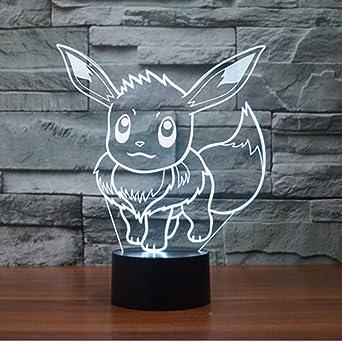 Couleur Pokémon Led Woloshop Usb Lumière Garçons Lampe Change xoreWdCB