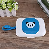 White + Blue Baby Outdoor Travel Stroller Wet Wipes Box Refillable Container for Car Bathroom Living Room Wet wipes Storage Box