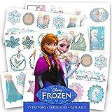 Disney Frozen 25 Tatoos (Includes Princess Anna, Queen Elsa, Olaf, Kristoff and Sven) By Disney