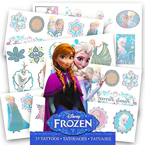 Disney Frozen 25 Tattoos (Includes Princess Anna, Queen Elsa, Olaf, Kristoff and Sven)