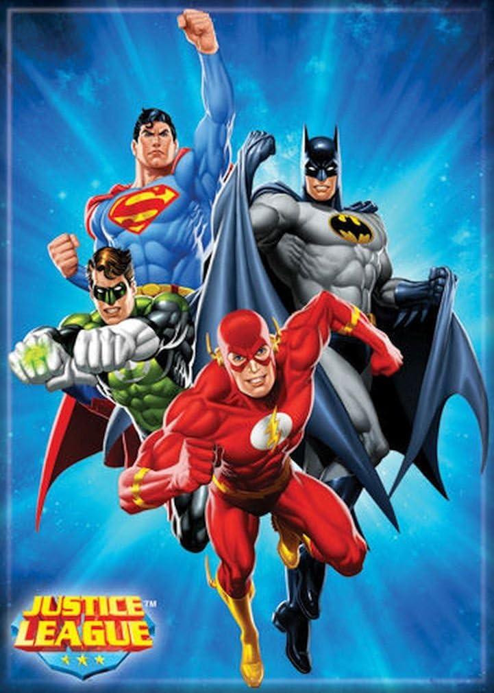 "Ata-Boy DC Comics Justice League America 2.5"" x 3.5"" Magnet for Refrigerators and Lockers"