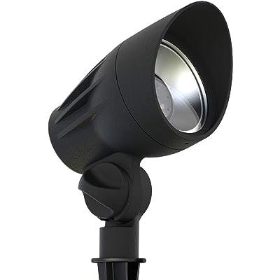 GOODMANN Landscape Lighting Flood Light 11W Low Voltage Garden LED Spotlight with Metal Spike Stand 300 Lumens 9920-2650-01