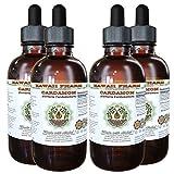 Cardamom Alcohol-FREE Liquid Extract, Organic Cardamom (Elettaria cardamomum) Dried Seed Glycerite Hawaii Pharm Natural Herbal Supplement 4x4 oz