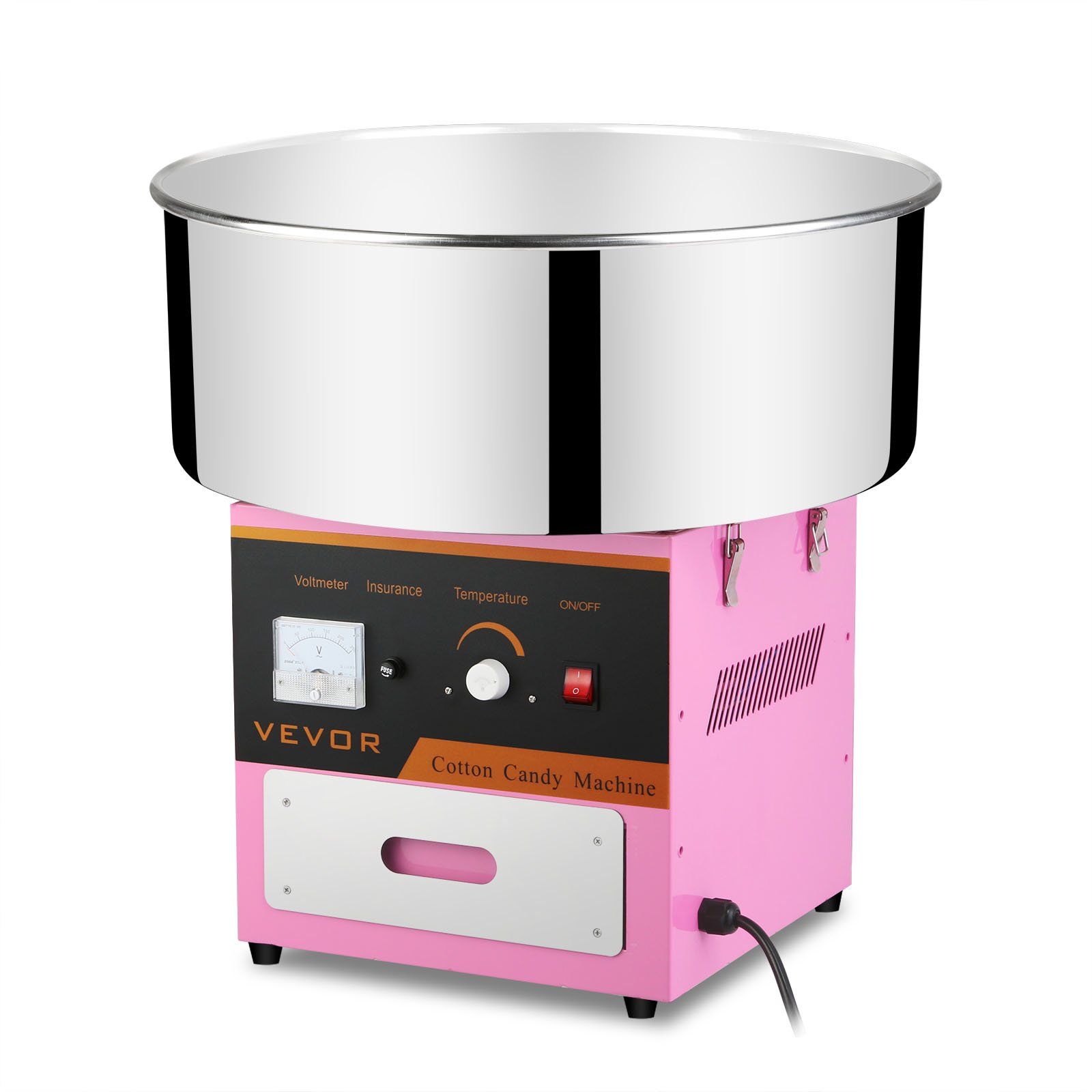 Mophorn Electric Cotton Candy Machine with Stainless Steel Tray Cotton Candy Maker for Kids Cotton Commercial Candy Machine 110V Perfect for Various Parties (Cotton Candy Machine)