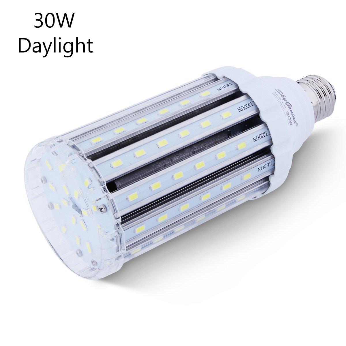 30W Daylight LED Corn Light Bulb For Indoor Outdoor Large Area   E26 Socket  3000Lm 6500K, For Home Street Lamp Post Lighting Garage Factory Warehouse  High ...
