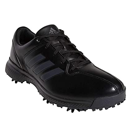 30c3fd5d13f adidas Golf 2019 CP Traxion Mens Waterproof Spiked Leather Golf Shoes Black  Carbon Iron