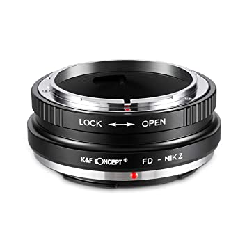 Amazon com : New K&F Concept Adapter for Canon FD Mount Lens to