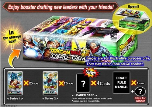 Dragon Ball Z Super Draft 01 Booster Box: 24 packs + 4 leader cards! (Galactic Battle & Union Force Series 2) Draft Box