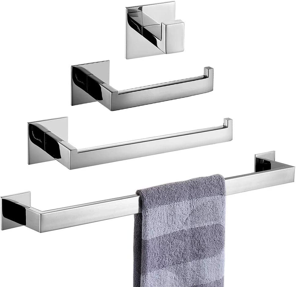 selbstklebend Kleiderhaken im Badezimmer keine Schrauben erforderlich und schwarz lackiert Homovater Handtuchhaken aus Edelstahl