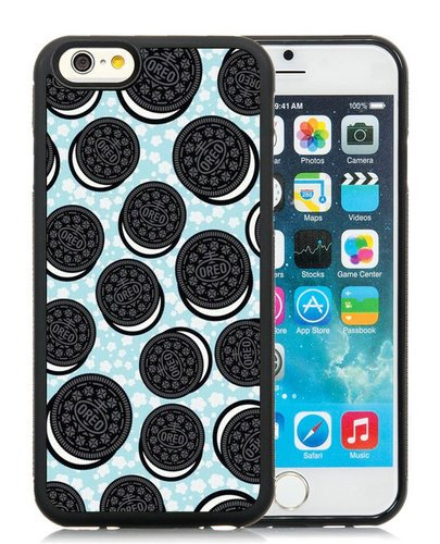 Iphone 6 TPU Case,Oreo Biscuits Black Shell Case for Iphone 6S 4.7 Inches