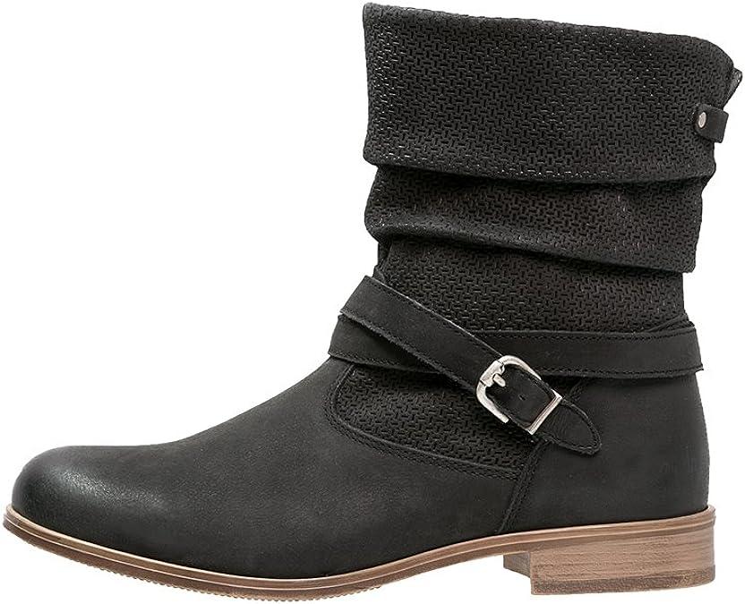 Pier One Damen Stiefel aus Veloursleder in Schwarz, 40 imDXD