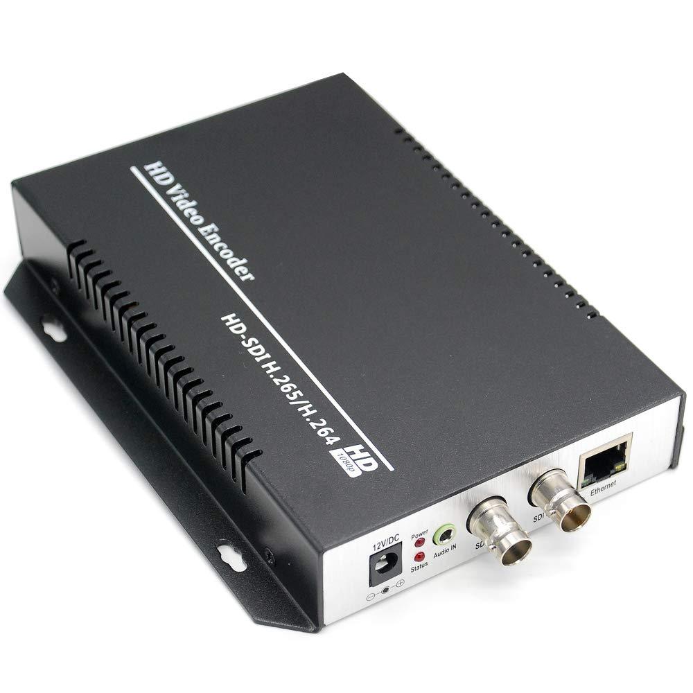 URayTech HEVC H.265 H.264 SD HD 3G SDI to IP Encoder IPTV HD Video Audio Live Streaming Encoder HD-SDI Transmitter with HTTP, RTSP, UDP, HLS, ONVIF, RTMP, Multicast, Unitcast by URayTech