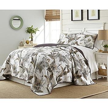 3 piezas bonitas Floral funda nórdica para cama King, contemporáneo, jardín, diseño de patrón de hojas, ...
