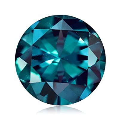 0 53-0 87 Cts of 5x5 mm AAA Round Russian Lab Created Alexandrite ( 1 pc )  Loose Gemstone