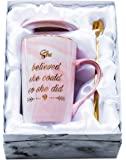 Mugpie She Believed She Could So She Did Coffee Mug - Congratulations Graduation Gifts for Her Women Girl Daughter…