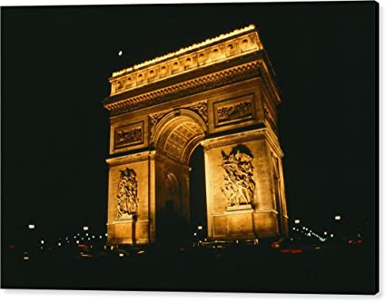amazon com the arc de triomphe lit up at night it by national