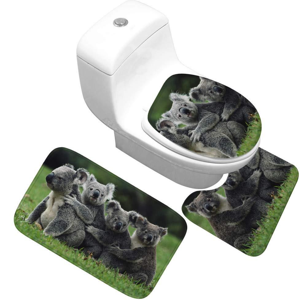GMYANMTD Super Weich Flanell Badematte 3 Stück Set Atmungsaktive Saugfähigen Saugfähigen Saugfähigen Badezimmer Teppich Warm Rutschfeste Toilette Fußmatte Bad Teppich B07HF984M4 Duschmatten 99fe5d